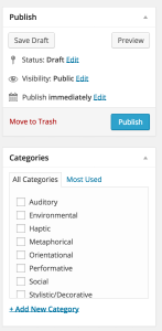 Wordpress uses boxes to contain composition functions and groups of functions (Dec 2014)
